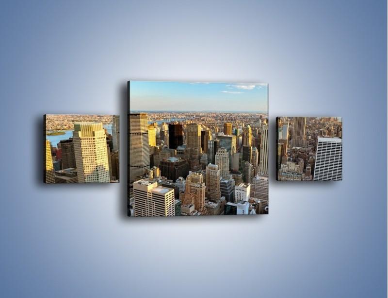 Obraz na płótnie – Manhattan w Nowym Yorku – trzyczęściowy AM412W4