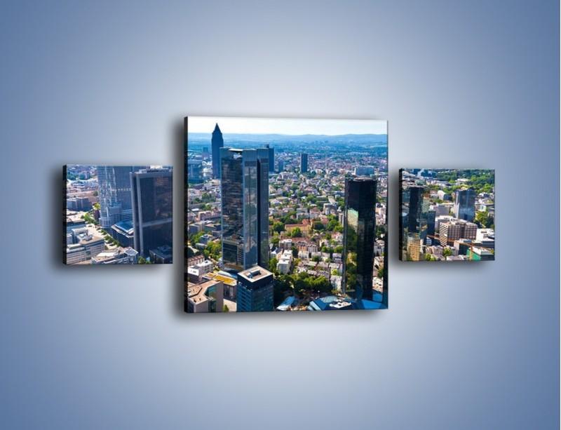 Obraz na płótnie – Panorama Frankfurtu – trzyczęściowy AM414W4