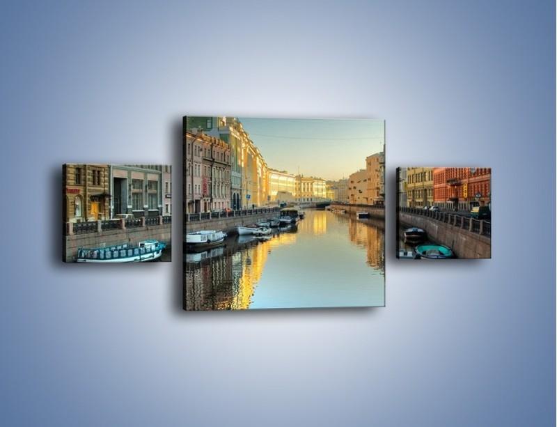 Obraz na płótnie – Kanał wodny w St. Petersburgu – trzyczęściowy AM422W4