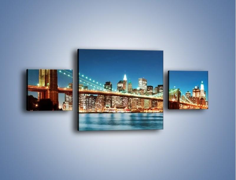 Obraz na płótnie – Most Brookliński na tle Nowego Jorku – trzyczęściowy AM428W4