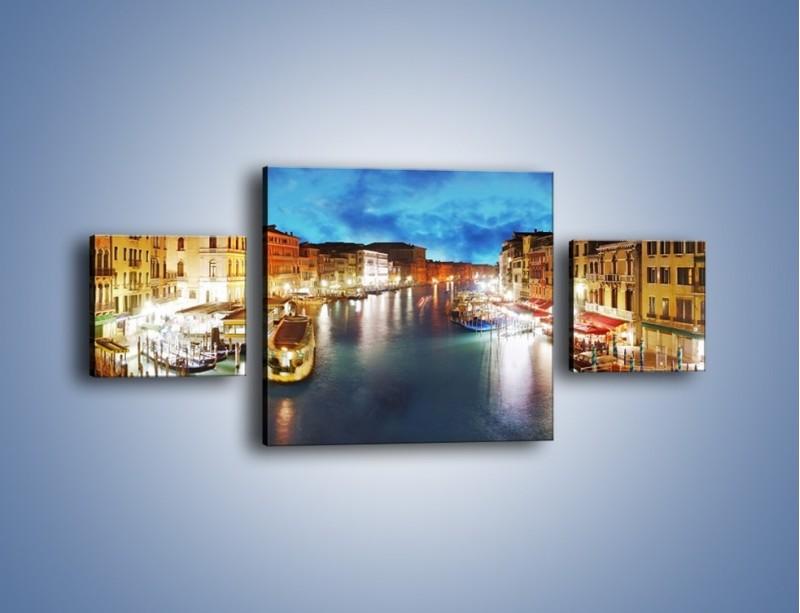 Obraz na płótnie – Światła Wenecji po zmroku – trzyczęściowy AM430W4