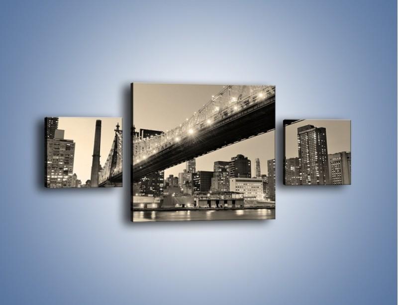 Obraz na płótnie – Most Qeensboro w Nowym Yorku – trzyczęściowy AM438W4