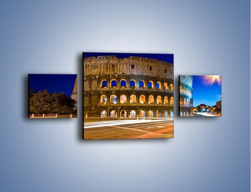 Obraz na płótnie – Koloseum po zmierzchu – trzyczęściowy AM443W4