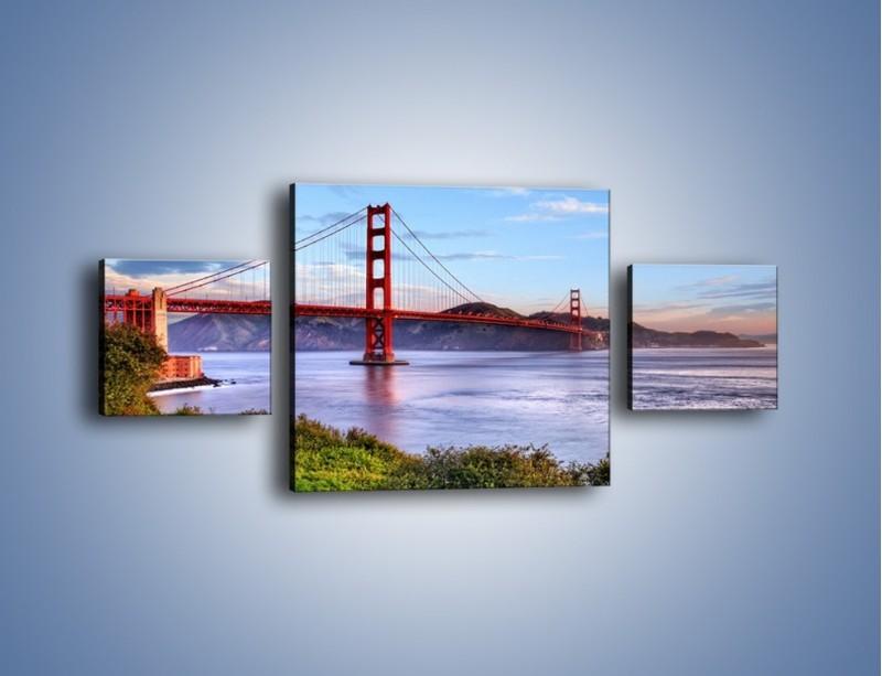 Obraz na płótnie – Most Golden Gate w San Francisco – trzyczęściowy AM444W4