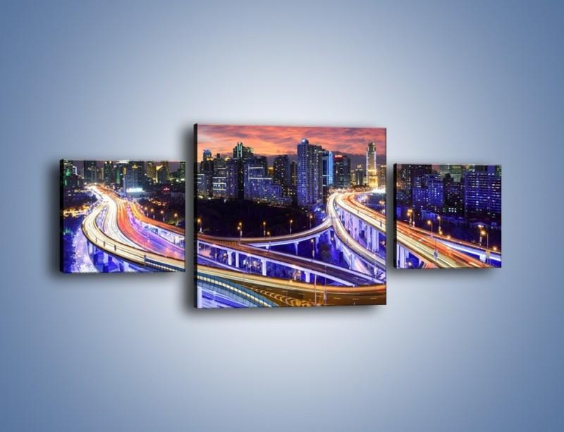 Obraz na płótnie – Skrzyżowania autostrady w Hong Kongu – trzyczęściowy AM447W4