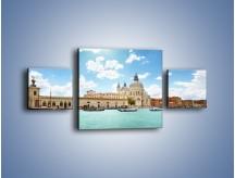 Obraz na płótnie – Canal Grande w Wenecji – trzyczęściowy AM449W4