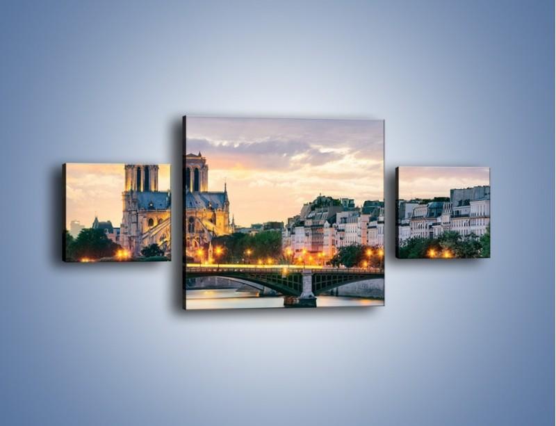 Obraz na płótnie – Katedra Notre Dame – trzyczęściowy AM454W4