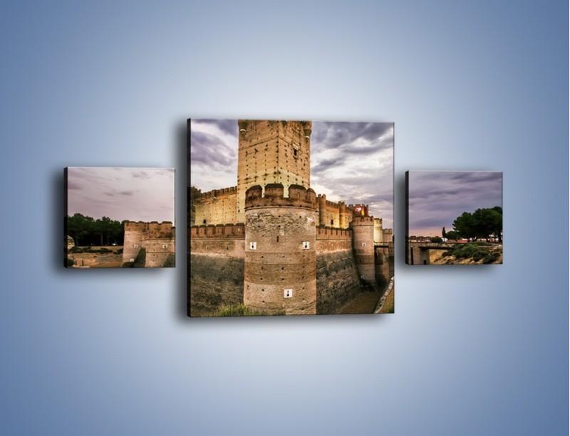 Obraz na płótnie – Zamek La Mota w Hiszpanii – trzyczęściowy AM457W4