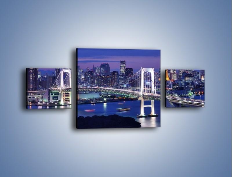 Obraz na płótnie – Tęczowy Most w Tokyo – trzyczęściowy AM460W4