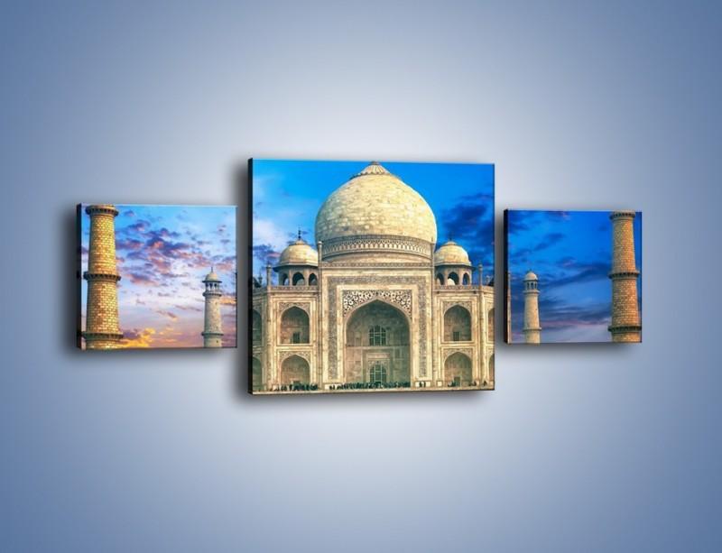 Obraz na płótnie – Tadź Mahal pod niebieskim niebem – trzyczęściowy AM466W4