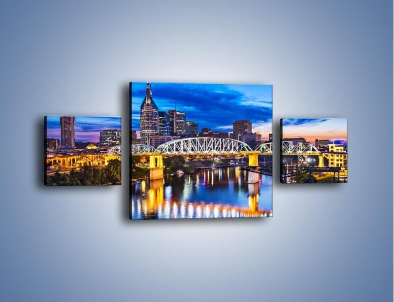 Obraz na płótnie – Most Shelby Street w Nashville – trzyczęściowy AM489W4