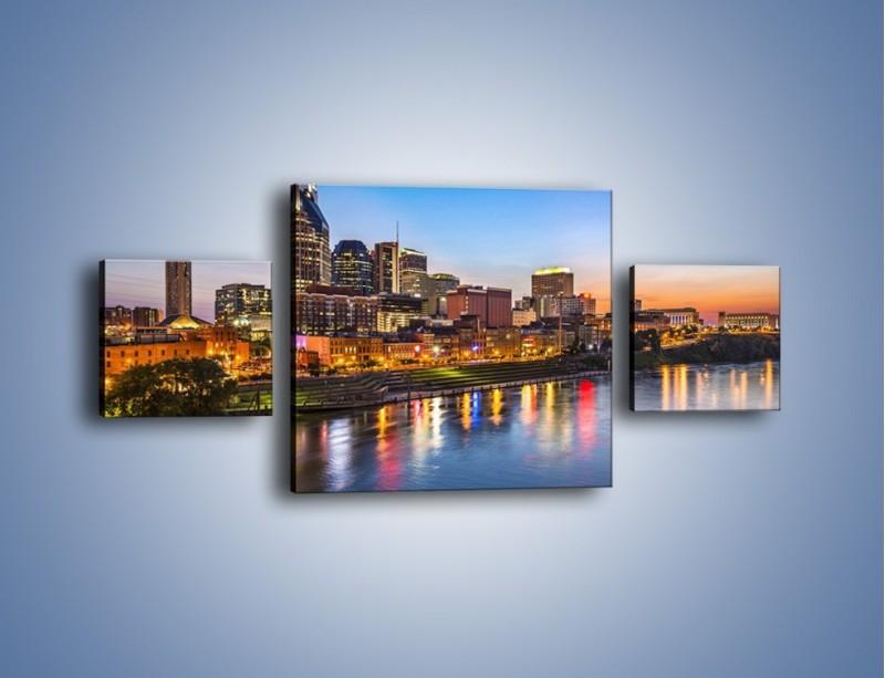 Obraz na płótnie – Nashville nad rzeką Cumberland – trzyczęściowy AM491W4
