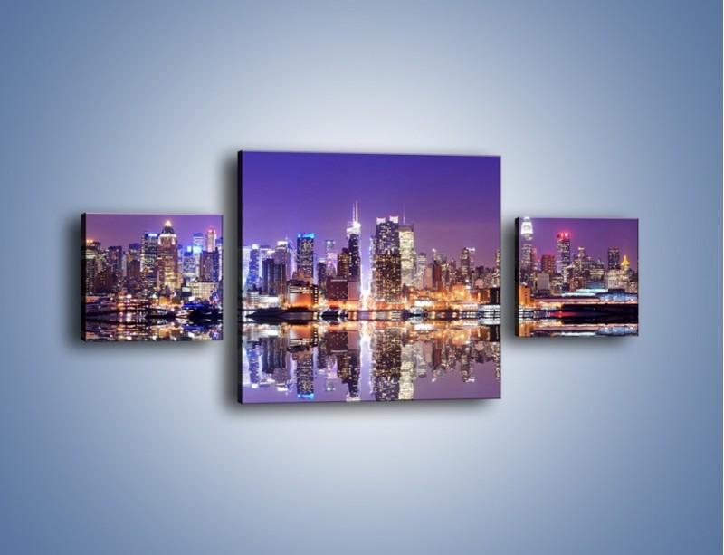 Obraz na płótnie – Panorama Midtown Manhattan – trzyczęściowy AM492W4
