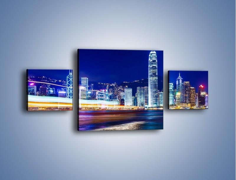 Obraz na płótnie – Panorama Hong Kongu – trzyczęściowy AM499W4