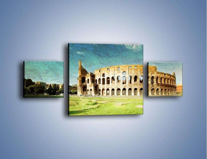 Obraz na płótnie – Koloseum w stylu vintage – trzyczęściowy AM503W4