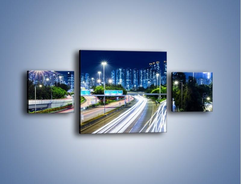 Obraz na płótnie – Autostrada prowadząca do Hong Kongu – trzyczęściowy AM504W4
