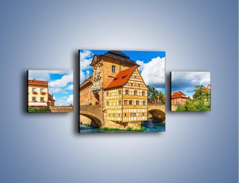 Obraz na płótnie – Ratusz w mieście Bamberg – trzyczęściowy AM513W4