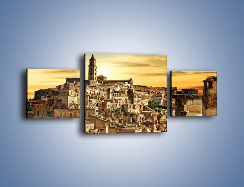 Obraz na płótnie – Matera – miasto wykute w skale – trzyczęściowy AM517W4