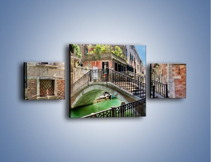 Obraz na płótnie – Wenecki most – trzyczęściowy AM523W4