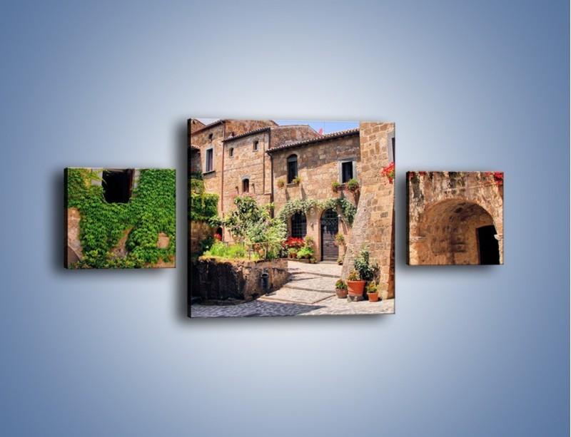 Obraz na płótnie – Romantyczna uliczka we Włoszech – trzyczęściowy AM533W4