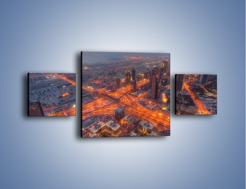 Obraz na płótnie – Panorama Dubaju o poranku – trzyczęściowy AM538W4