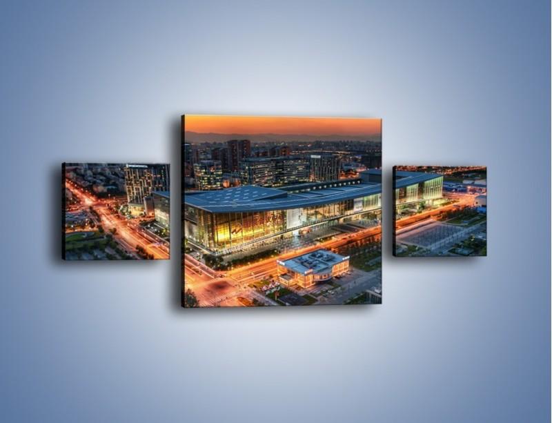 Obraz na płótnie – Centrum kongresowe CNCC w Chinach – trzyczęściowy AM575W4