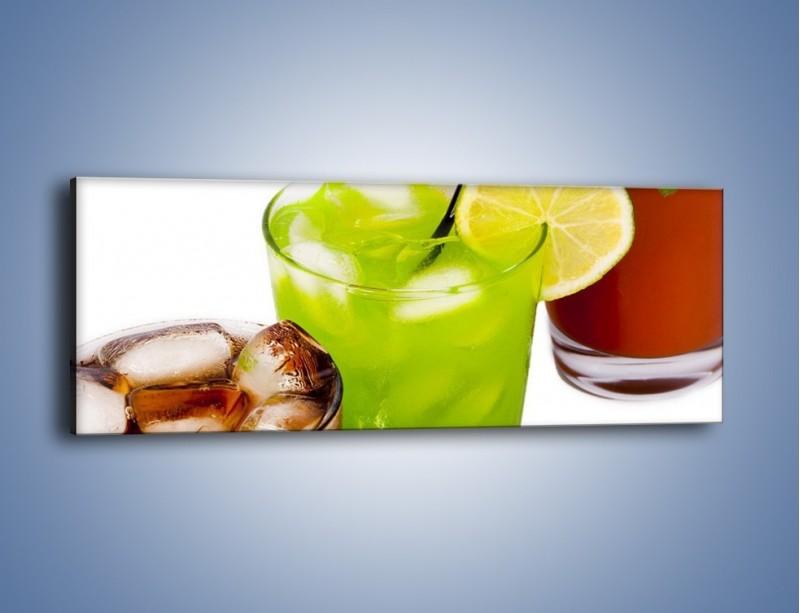 Obraz na płótnie – Kwaśno-słodkie drinki – jednoczęściowy panoramiczny JN093