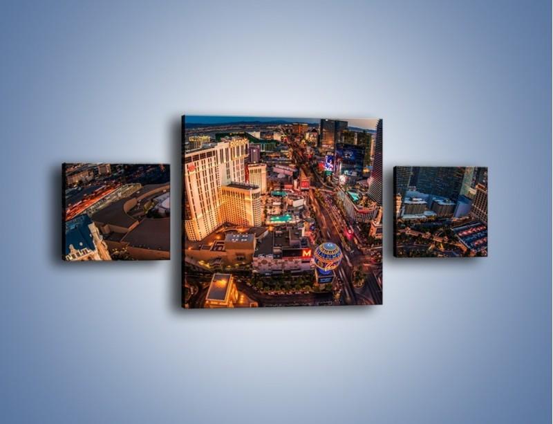 Obraz na płótnie – Centrum Las Vegas – trzyczęściowy AM588W4