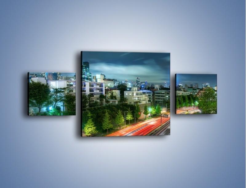 Obraz na płótnie – Miasto Roppongi w Japonii – trzyczęściowy AM593W4