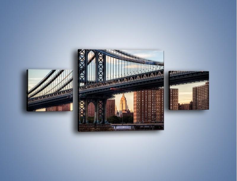 Obraz na płótnie – Manhattan Bridge – trzyczęściowy AM607W4