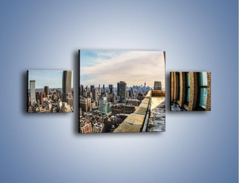 Obraz na płótnie – Empire State Building na Manhattanie – trzyczęściowy AM610W4