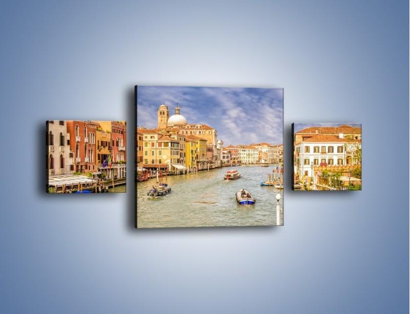 Obraz na płótnie – Canal Grande w Wenecji o poranku – trzyczęściowy AM617W4