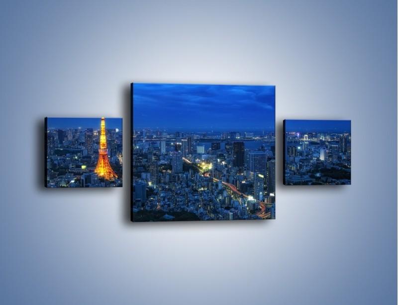 Obraz na płótnie – Tokyo Tower w Japonii – trzyczęściowy AM621W4