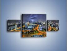 Obraz na płótnie – Burza nad Bangkokiem – trzyczęściowy AM622W4