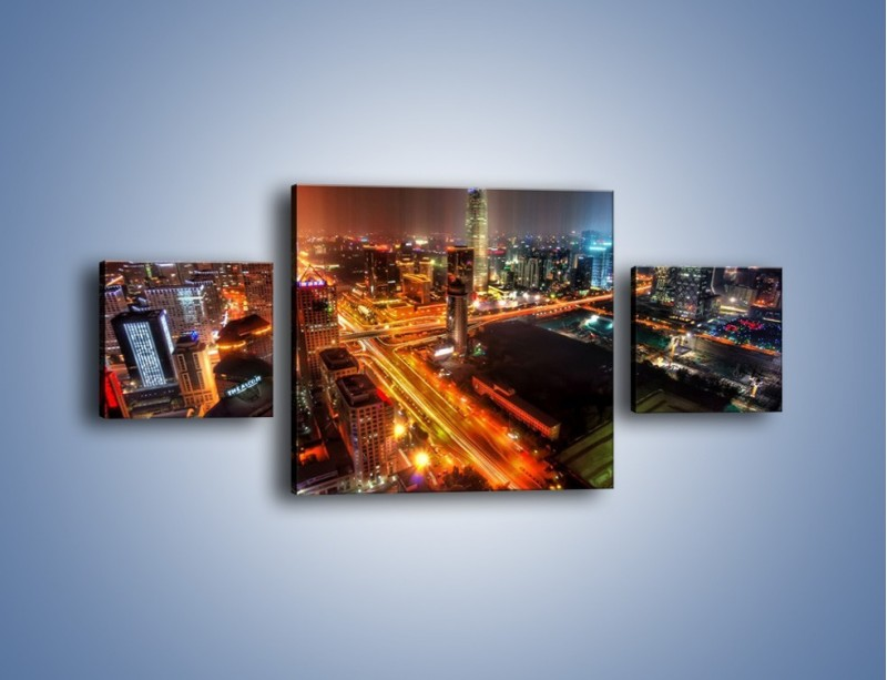 Obraz na płótnie – Niesamowite kolory Pekinu – trzyczęściowy AM632W4