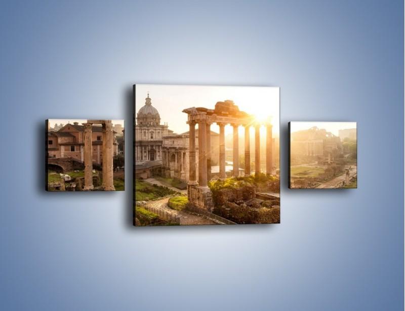 Obraz na płótnie – Starożytna architektura Rzymu – trzyczęściowy AM638W4