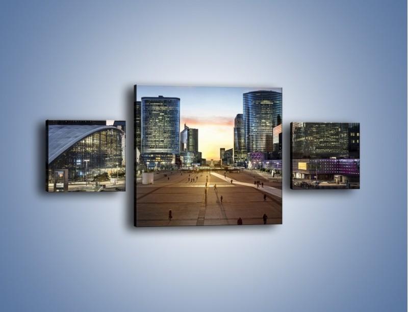 Obraz na płótnie – Quartier La Défense w Paryżu – trzyczęściowy AM647W4