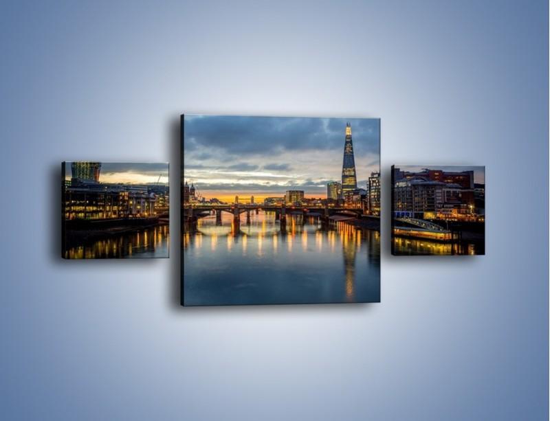 Obraz na płótnie – Millennium Bridge w Londynie – trzyczęściowy AM651W4