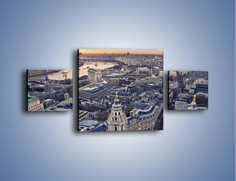 Obraz na płótnie – Widok na Londyn z Katedry św. Pawła – trzyczęściowy AM652W4
