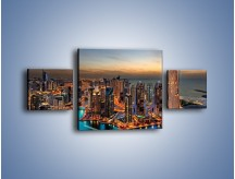 Obraz na płótnie – Centrum Dubaju wieczorową porą – trzyczęściowy AM656W4