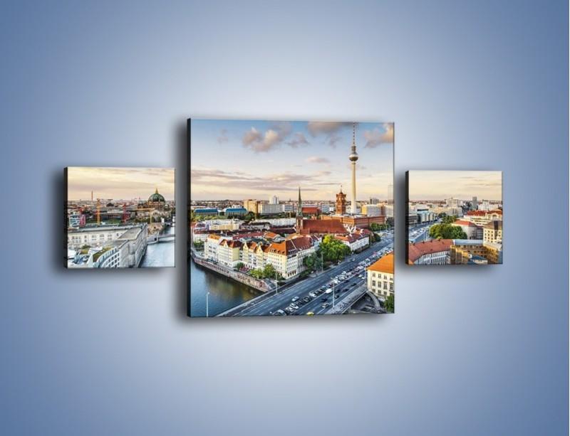 Obraz na płótnie – Panorama Berlina – trzyczęściowy AM673W4