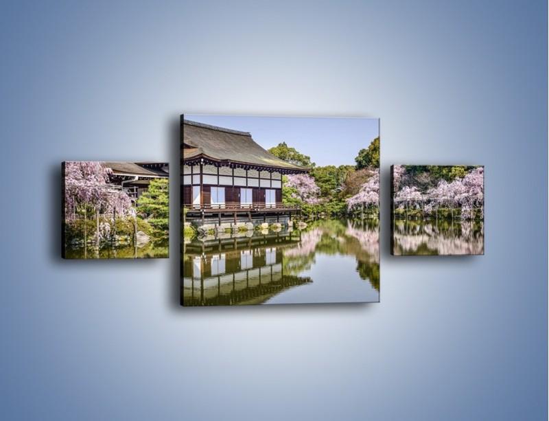 Obraz na płótnie – Świątynia Heian Shrine w Kyoto – trzyczęściowy AM677W4