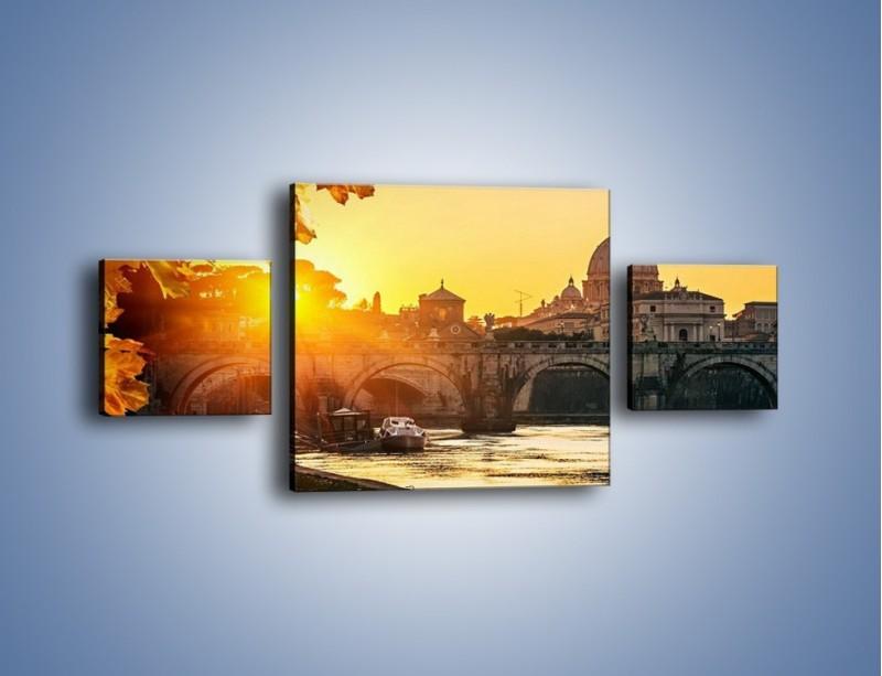 Obraz na płótnie – Bazylika św. Piotra o zachodzie słońca – trzyczęściowy AM685W4