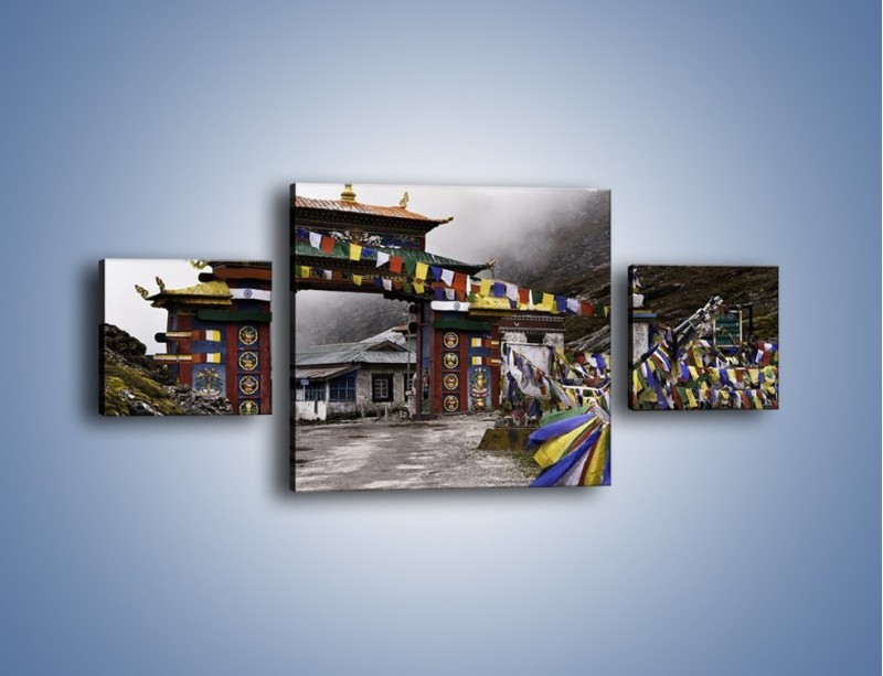Obraz na płótnie – Brama do miasta Tawang w Tybecie – trzyczęściowy AM689W4