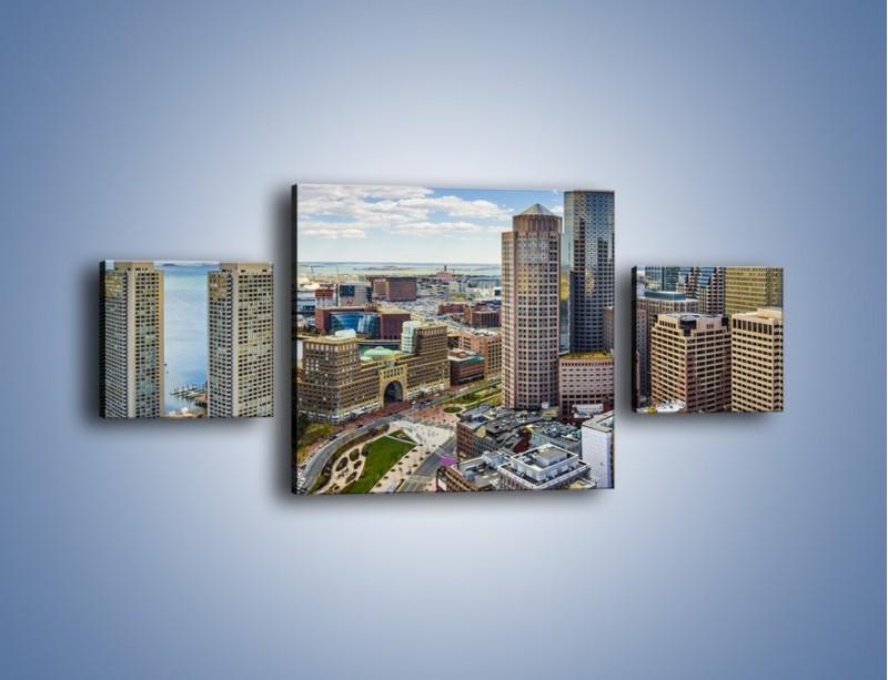 Obraz na płótnie – Boston w stanie Massachusetts – trzyczęściowy AM700W4