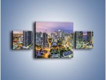 Obraz na płótnie – Centrum Miami – trzyczęściowy AM702W4
