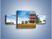 Obraz na płótnie – Chiński ogród w Singapurze – trzyczęściowy AM715W4