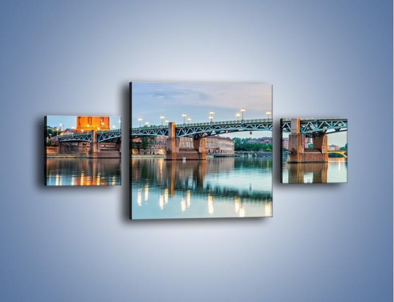 Obraz na płótnie – Most Saint-Pierre w Tuluzie – trzyczęściowy AM721W4