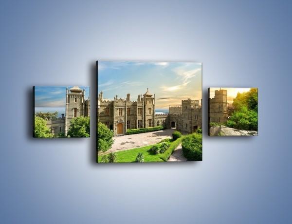 Obraz na płótnie – Pałac Woroncowa w Ałupce – trzyczęściowy AM747W4