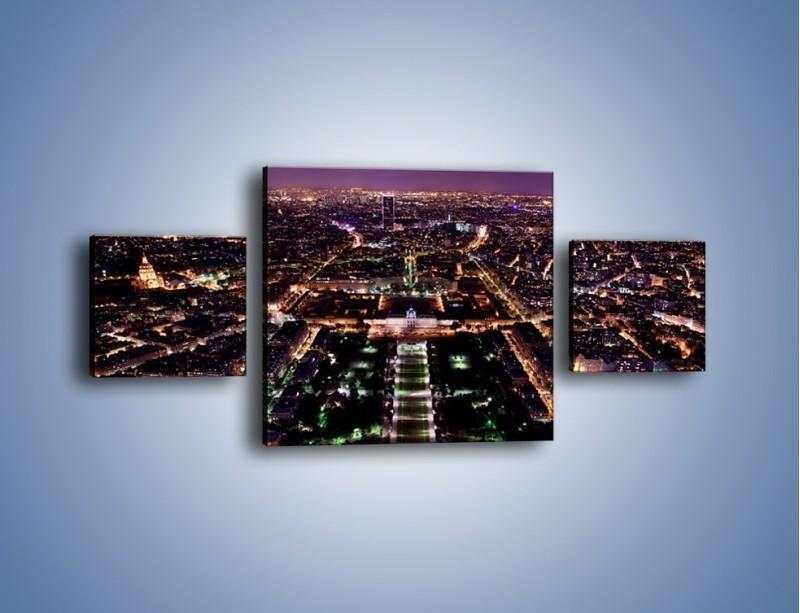 Obraz na płótnie – Panorama Paryża z Wieży Eiffla – trzyczęściowy AM764W4